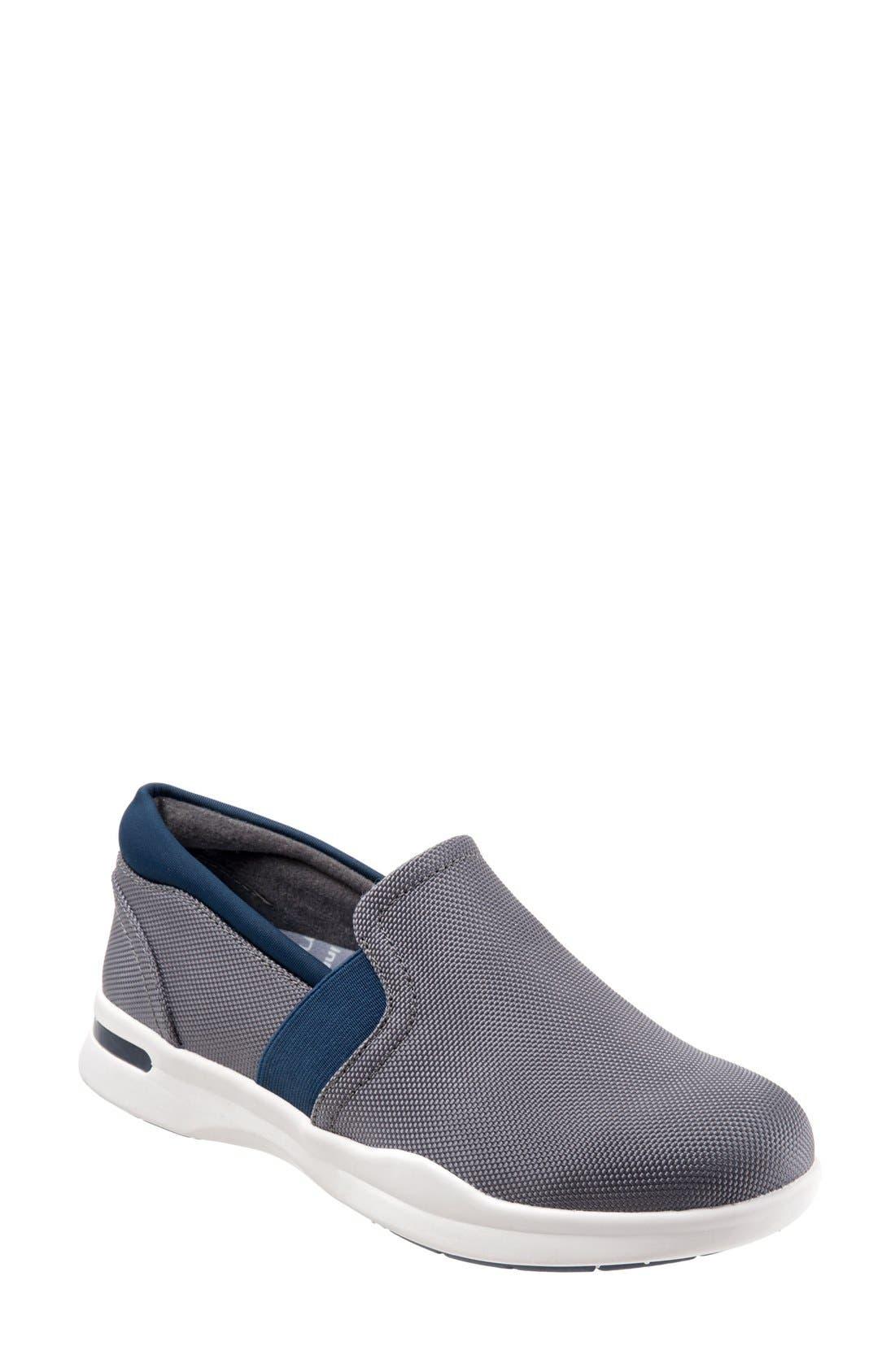'Vantage' Slip-On Sneaker,                             Main thumbnail 1, color,                             Grey-Navy