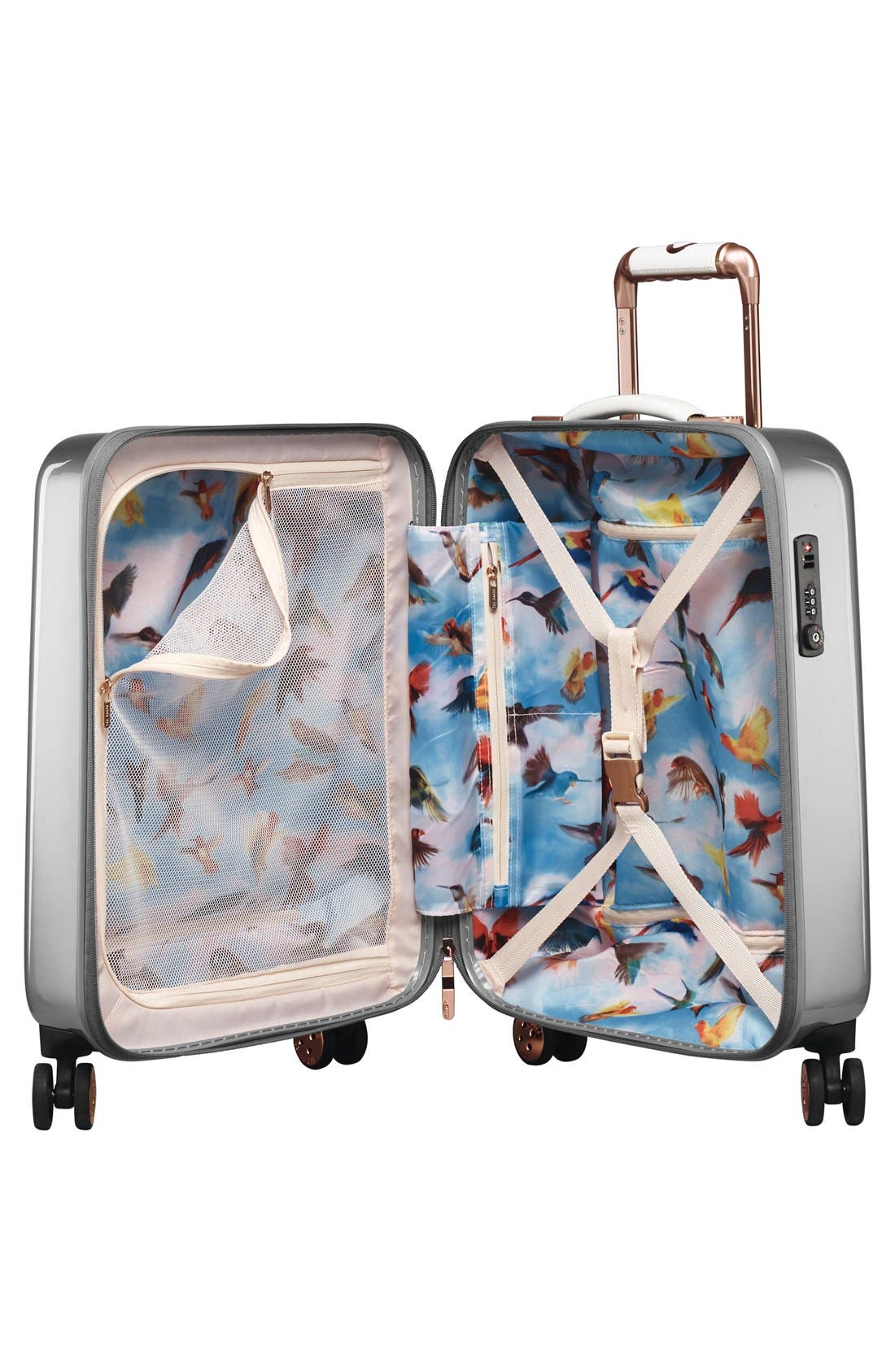Alternate Image 3  - Ted Baker London 'Small Porcelain Rose' Four Wheel Suitcase (22 Inch)