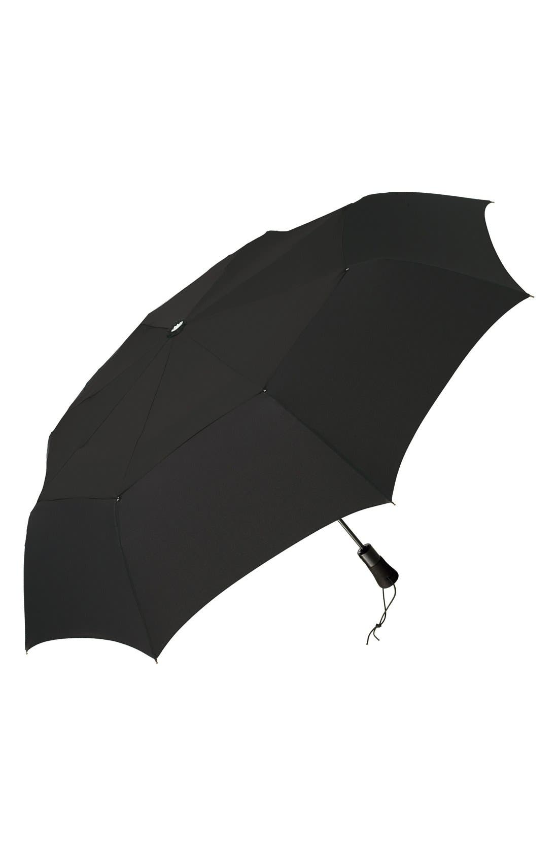 'WindPro<sup>®</sup>' Auto Open & Close Umbrella,                             Main thumbnail 1, color,                             Black