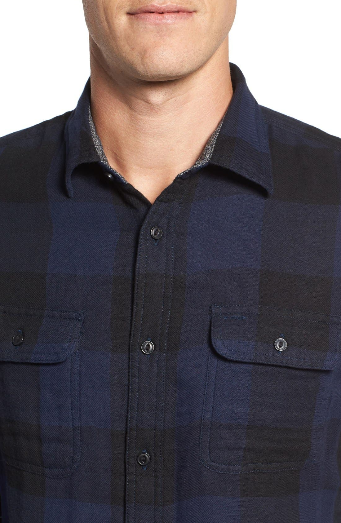 Alternate Image 4  - Nordstrom Men's Shop Trim Fit Buffalo Plaid Flannel Shirt Jacket