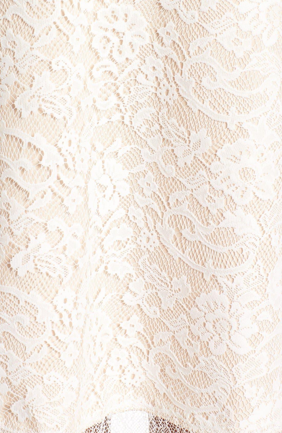 Alternate Image 5  - KENDALL + KYLIE Lace Panel Trapeze Dress