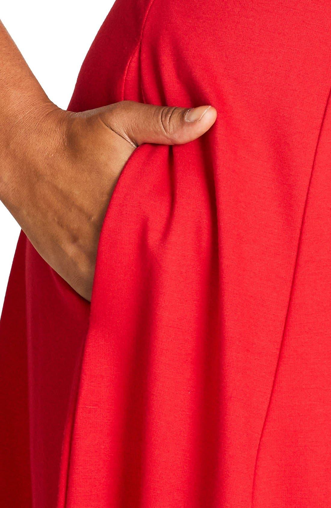 Alternate Image 4  - City Chic Classic Longline Scoop Neck Midi Dress (Plus Size)