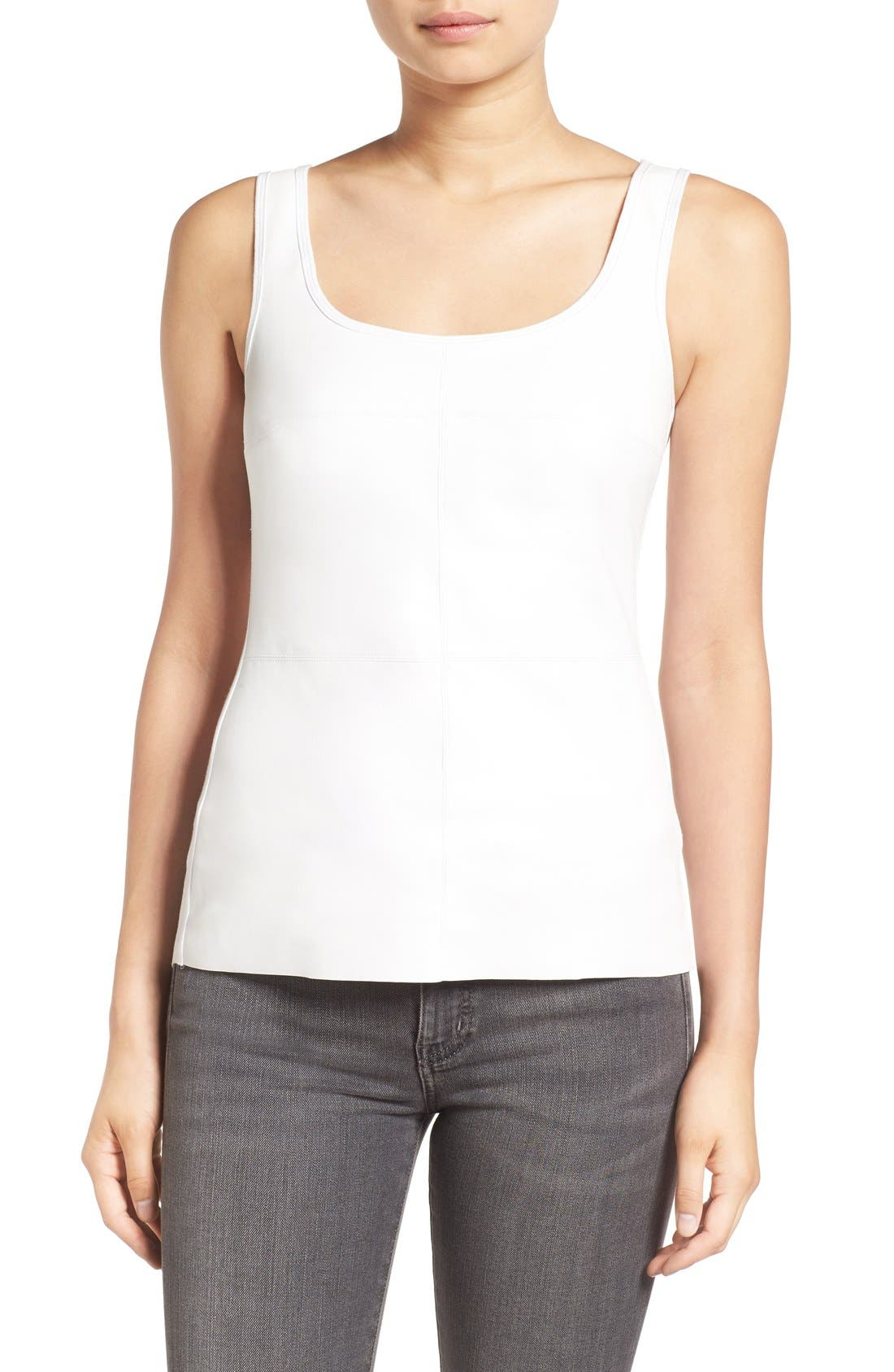 BAILEY 44 Fonda Faux Leather Front Tank