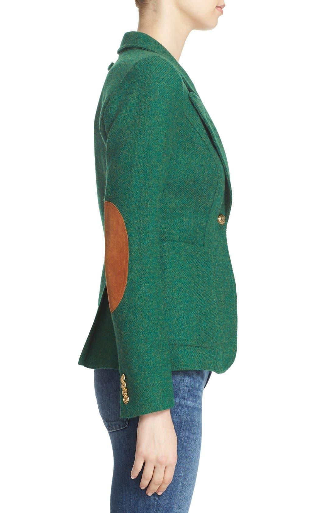 Alternate Image 3  - Smythe 'Duchess' Suede Trim Wool Blend Blazer