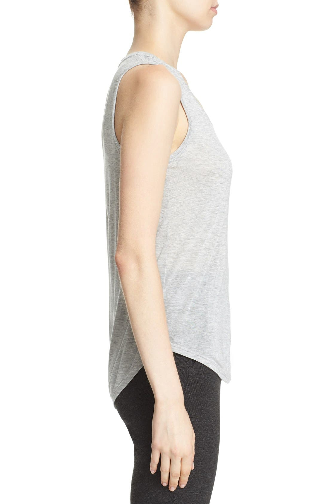 'Sweetheart' Modal Tank,                             Alternate thumbnail 3, color,                             Heather Grey