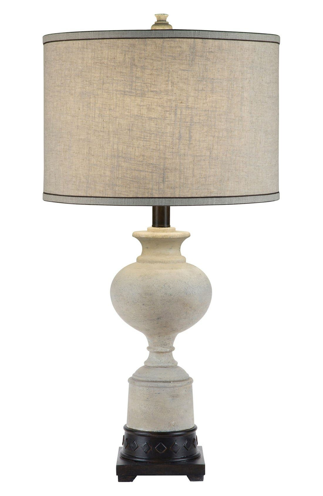JAlexander 'Trophy' Whitewash Table Lamp,                         Main,                         color, White