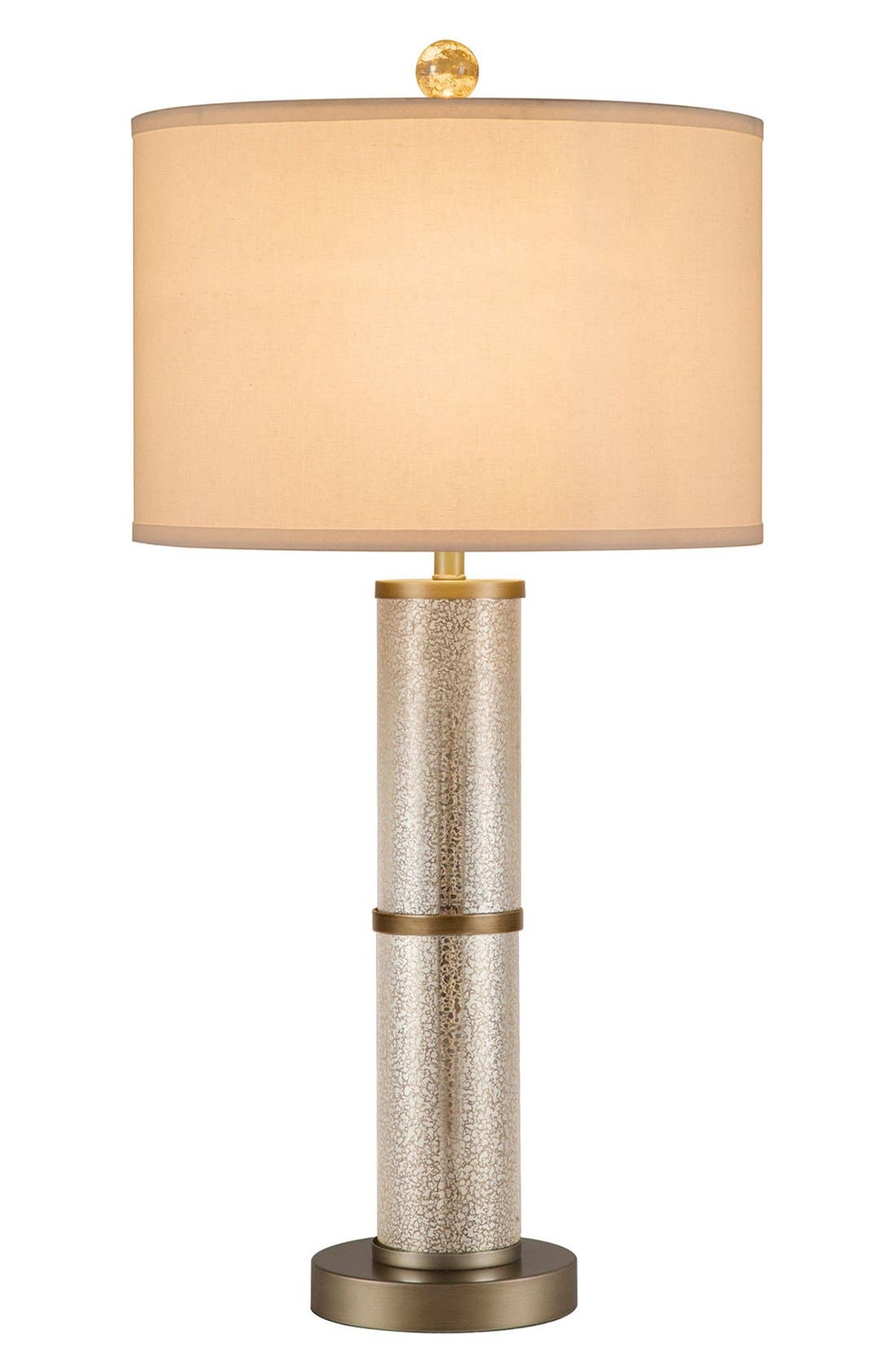 JAlexander Glass Cylinder Table Lamp,                         Main,                         color, Metallic Silver