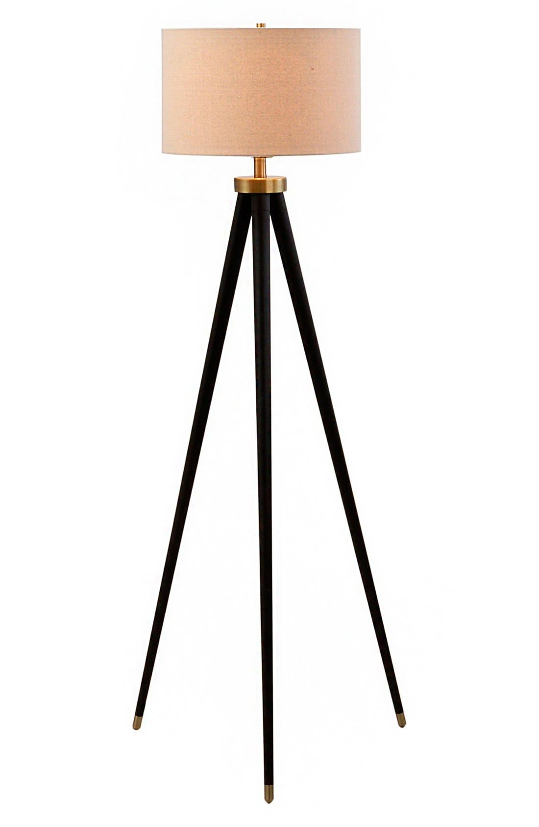 JAlexander Tripod Floor Lamp,                             Main thumbnail 1, color,                             Black