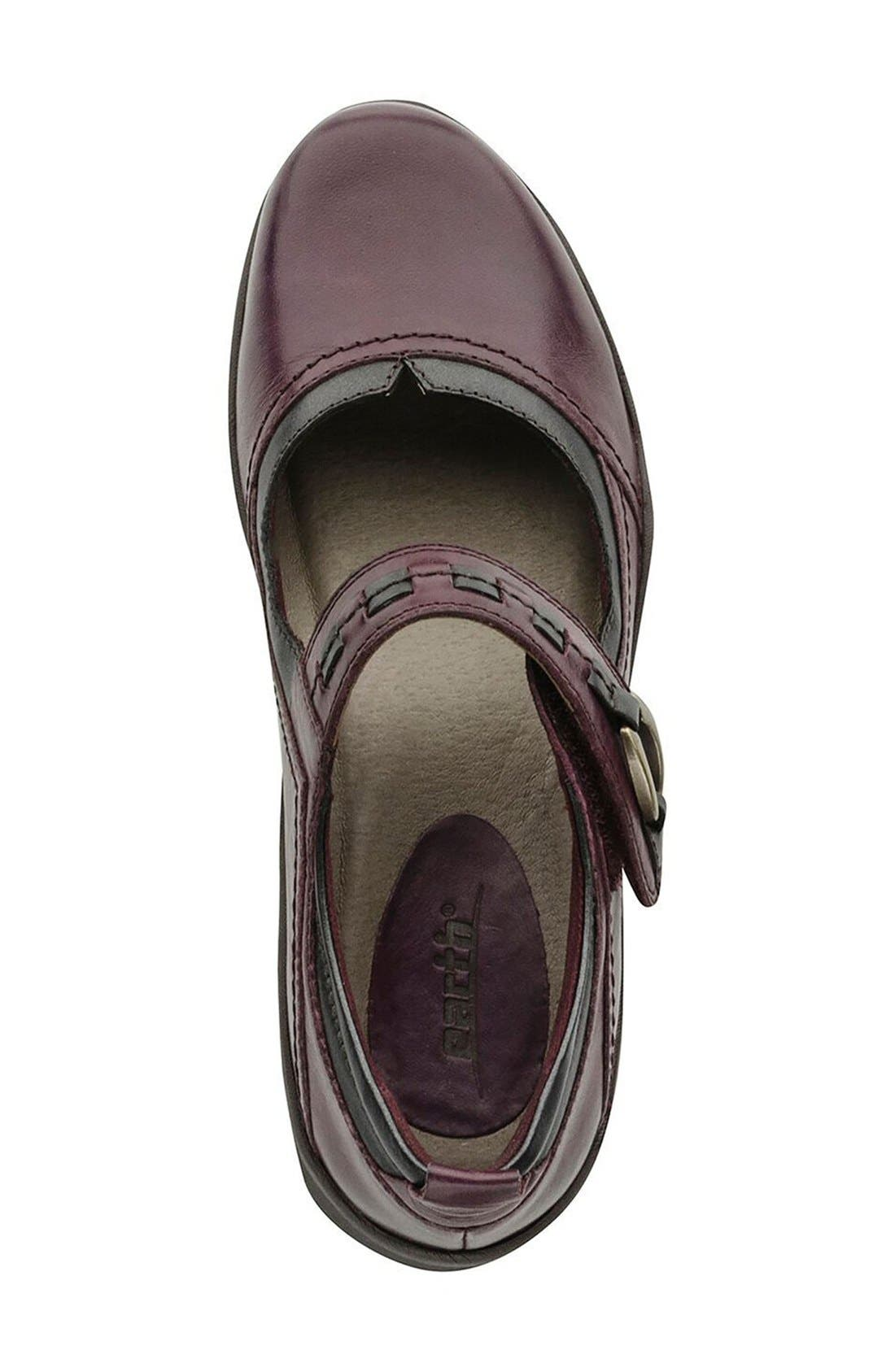 'Angelica' Mary Jane Flat,                             Alternate thumbnail 3, color,                             Prune Leather
