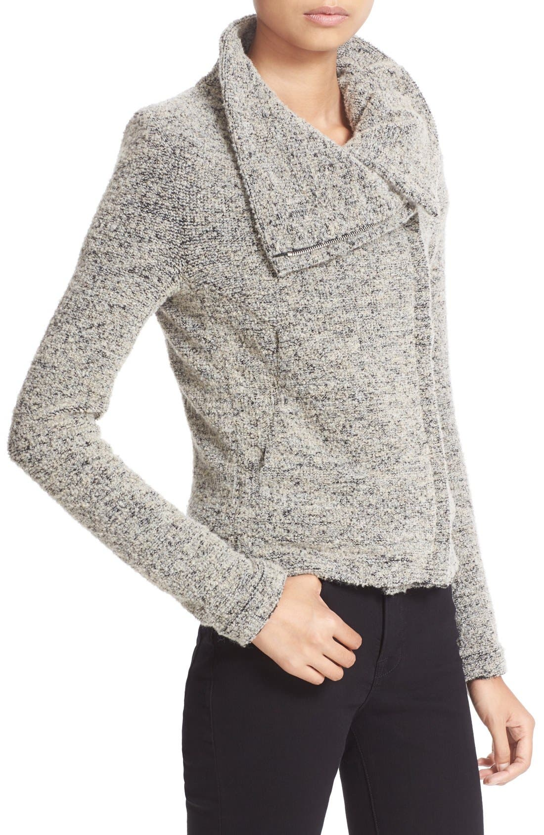 Alternate Image 4  - IRO Drape Front Bouclé Knit Jacket