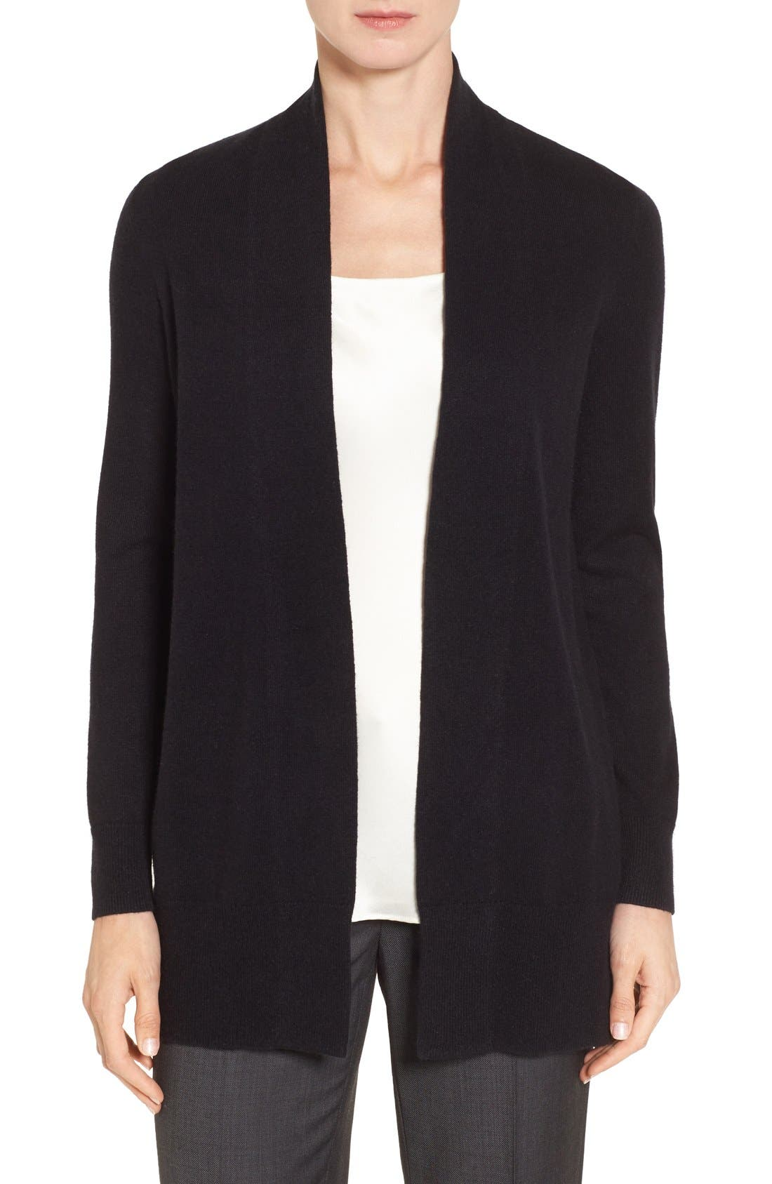 Alternate Image 1 Selected - Nordstrom Collection Open Front Cashmere Cardigan