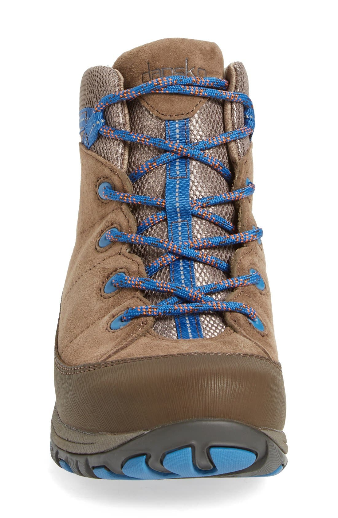 'Paulette' Waterproof Hiking Boot,                             Alternate thumbnail 3, color,                             Taupe Suede