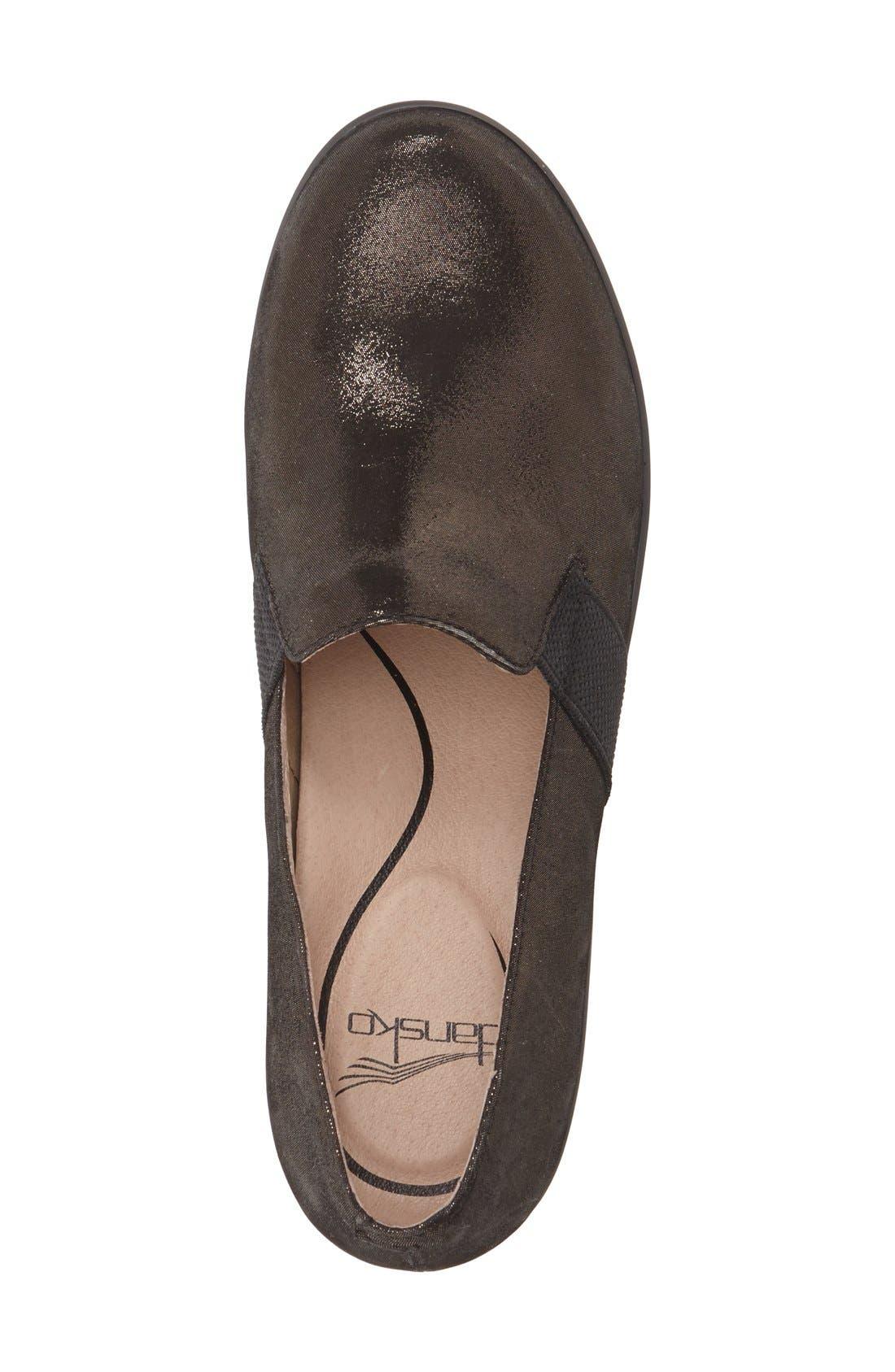 'Jessica' Platform Loafer,                             Alternate thumbnail 3, color,                             Black Metallic Suede