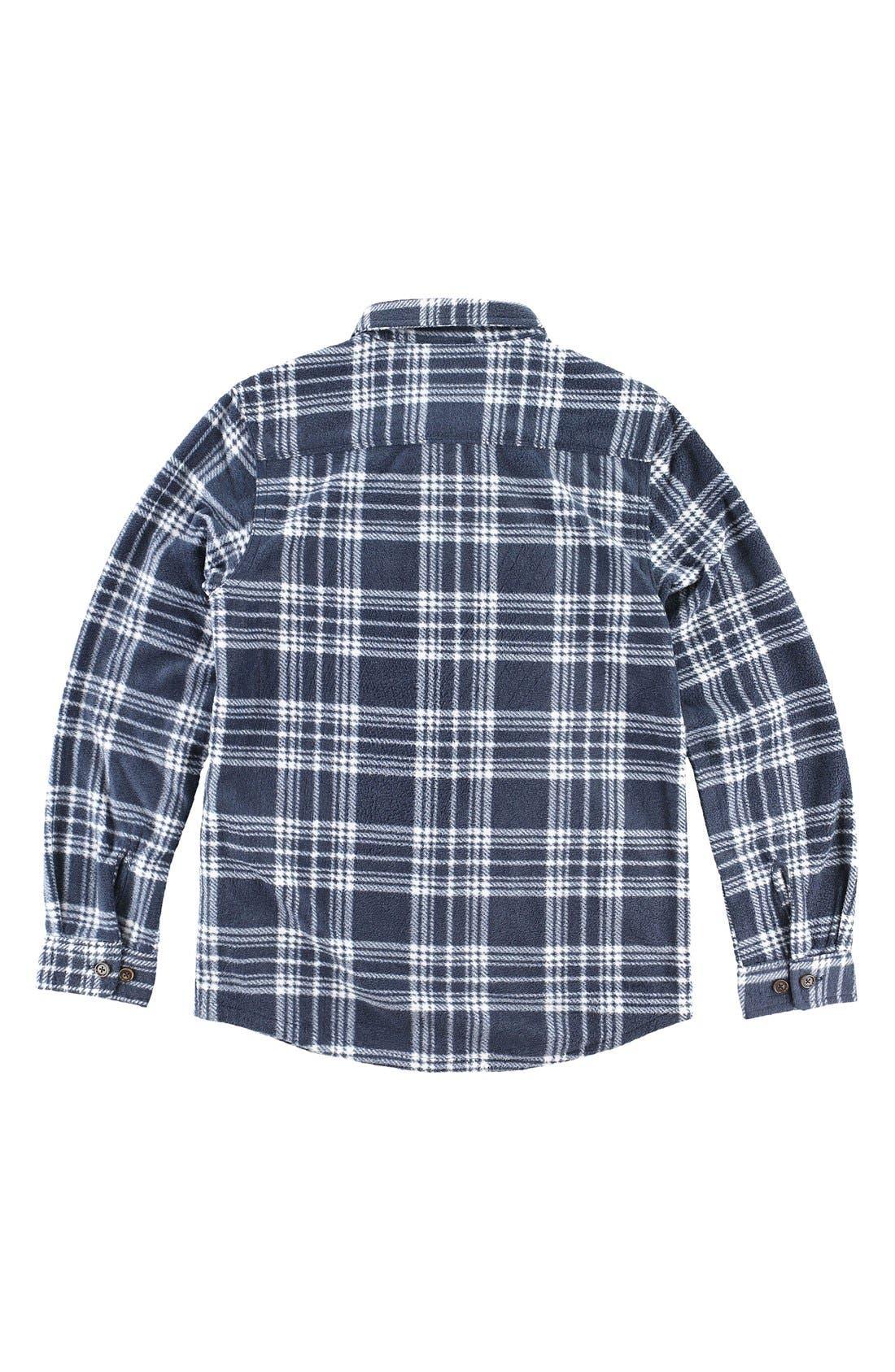 Alternate Image 2  - O'Neill 'Glacier' Check Long Sleeve Fleece Shirt (Big Boys)