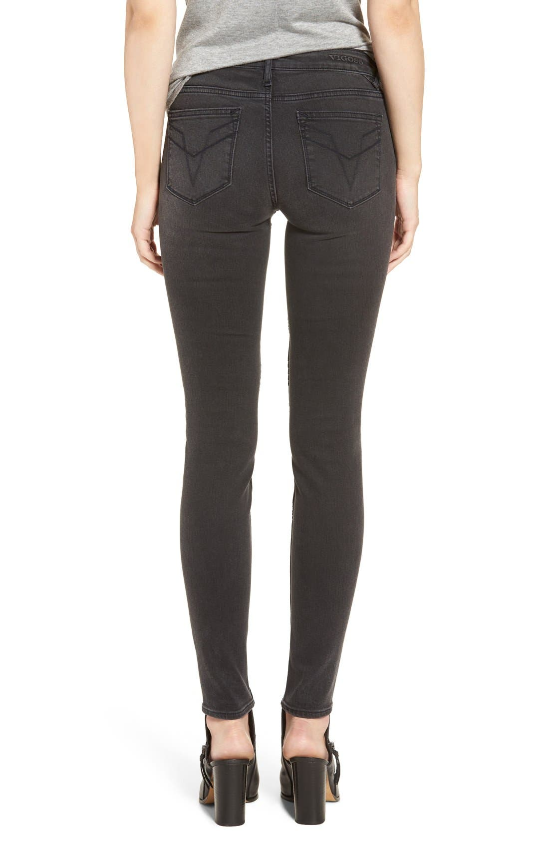 Alternate Image 3  - Vigoss 'Chelsea' Moto Skinny Jeans
