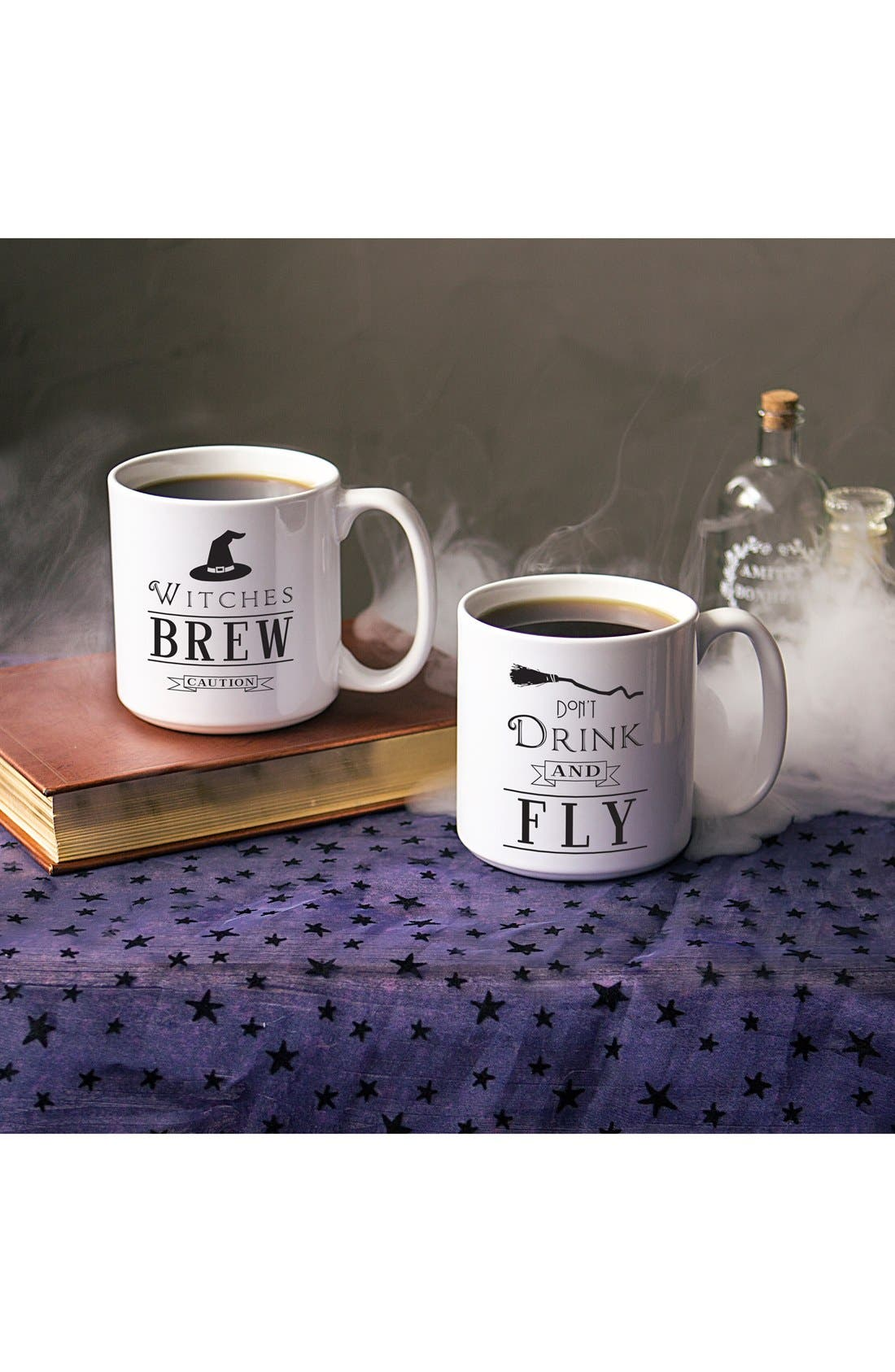 Cathy's Concepts 'Witches' Brew' Ceramic Coffee Mugs (Set of 2)