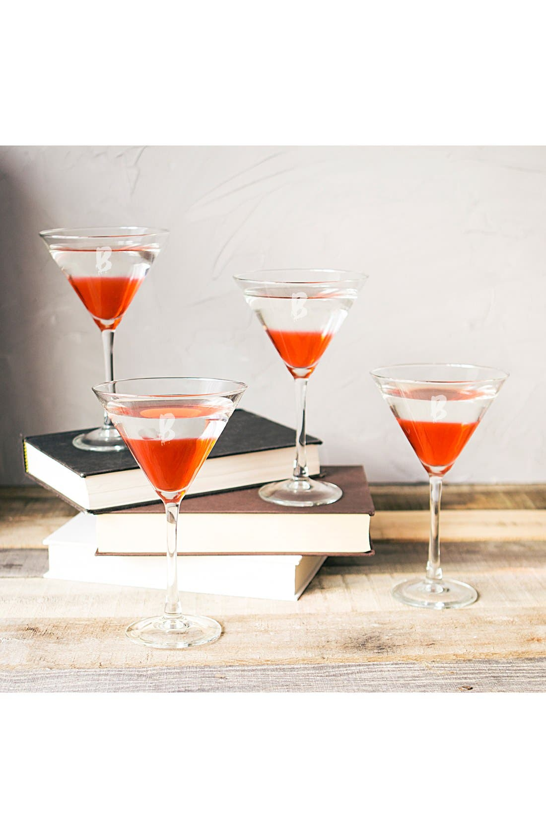 Alternate Image 3  - Cathy's Concepts 'Spooky' Monogram Martini Glasses (Set of 4)
