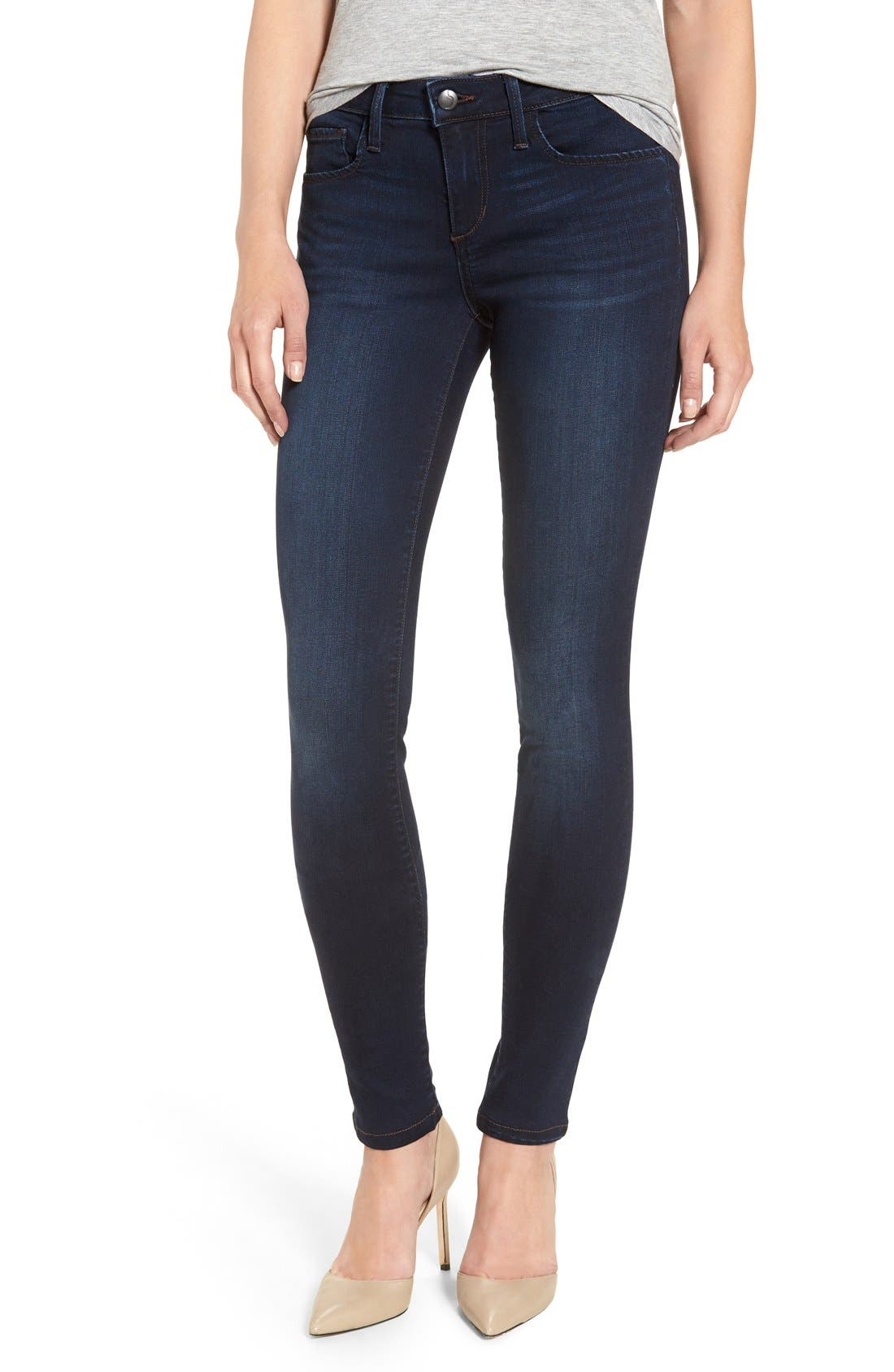 'Flawless - Twiggy' Skinny Jeans,                             Main thumbnail 1, color,                             Selma