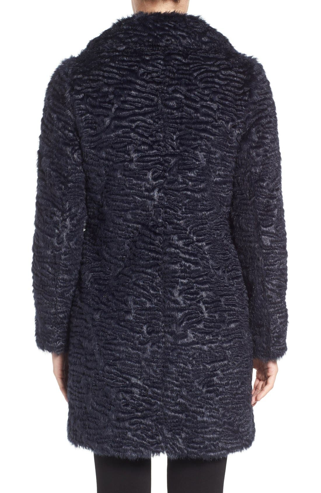 Alternate Image 2  - Eliza J Faux Persian Lamb Coat (Regular & Petite)