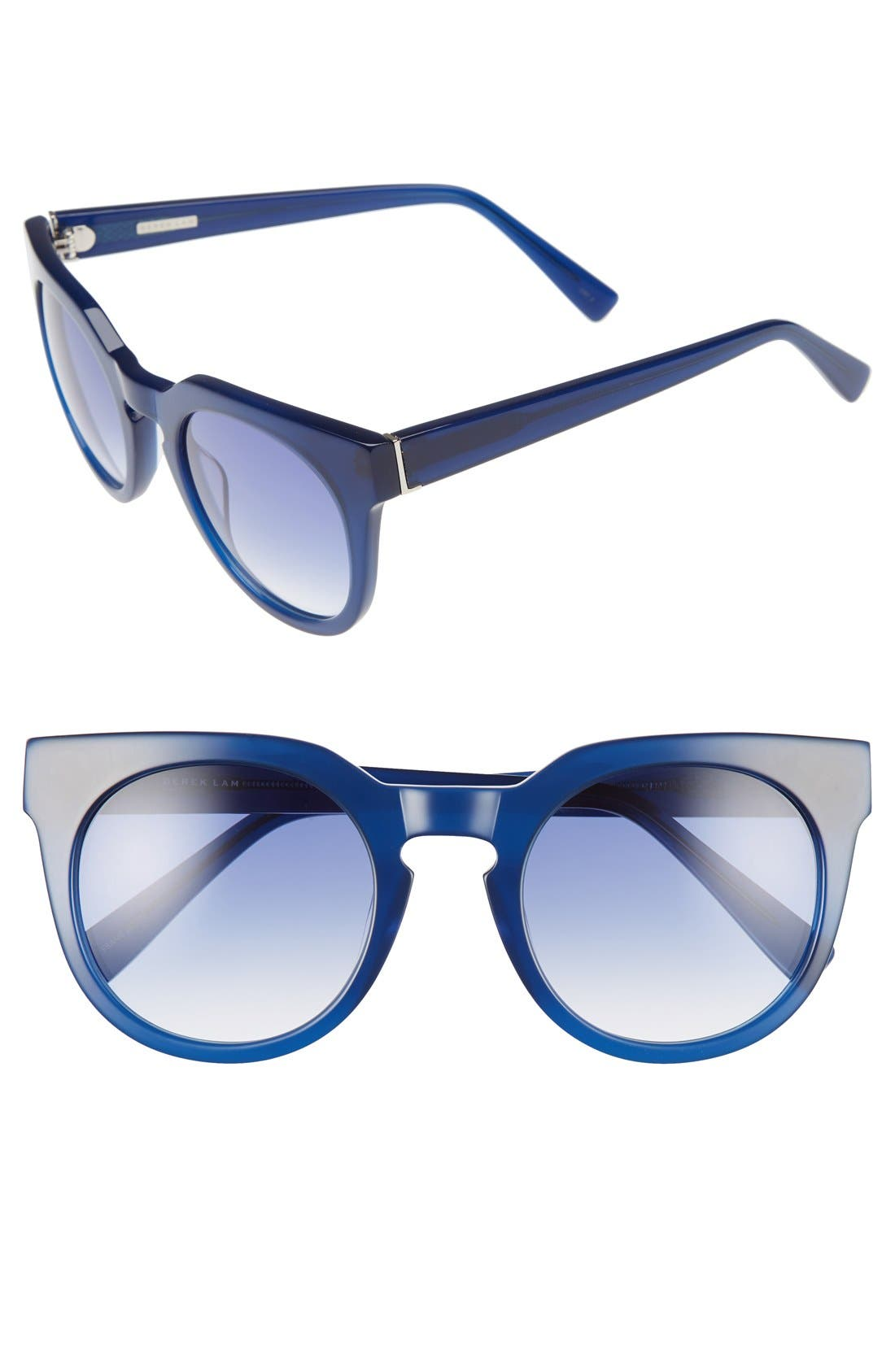 'Stella' 51mm Round Sunglasses,                         Main,                         color, Ink
