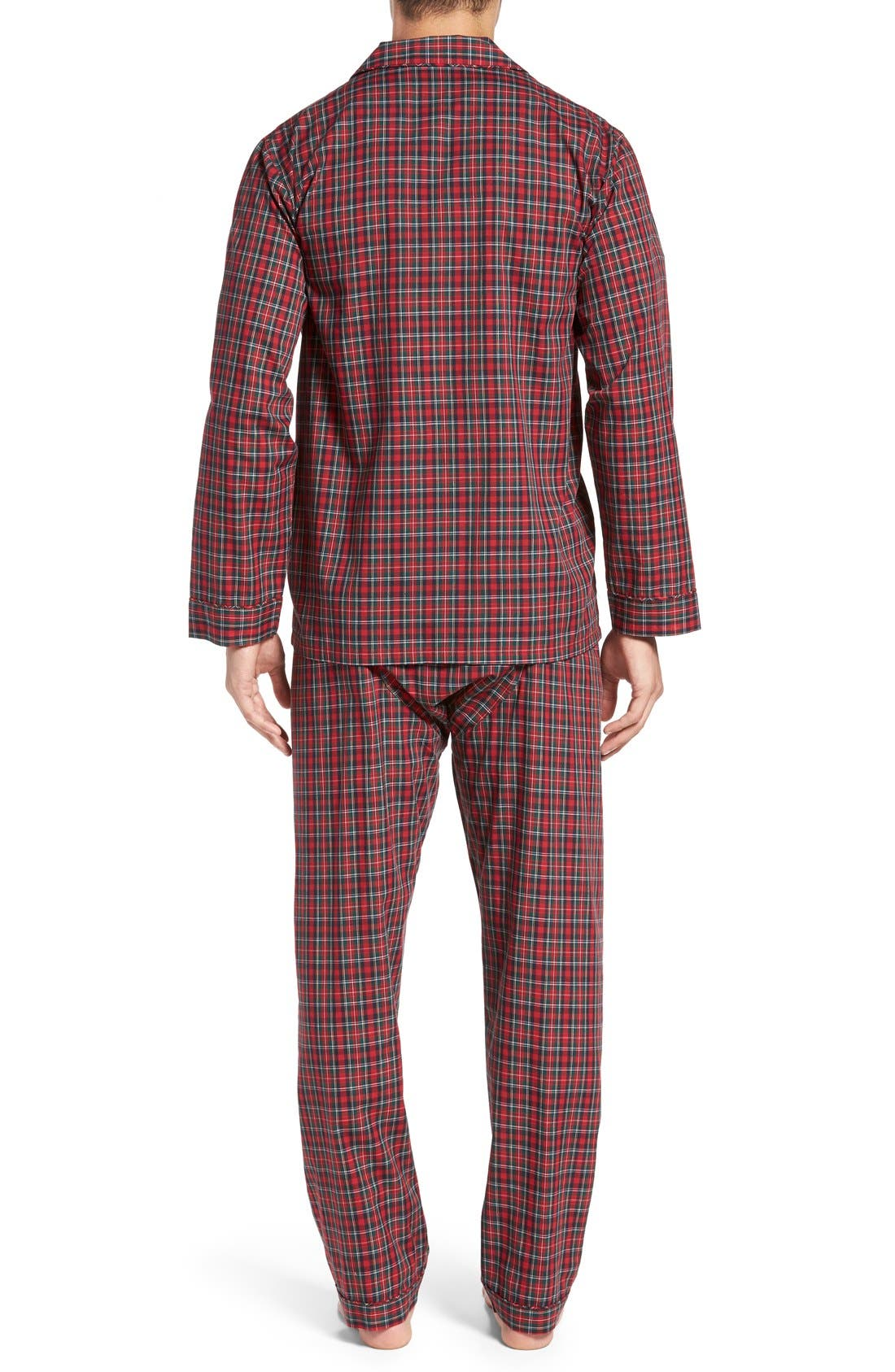 'CVC' Cotton Blend Pajamas,                             Alternate thumbnail 2, color,                             Holiday Red