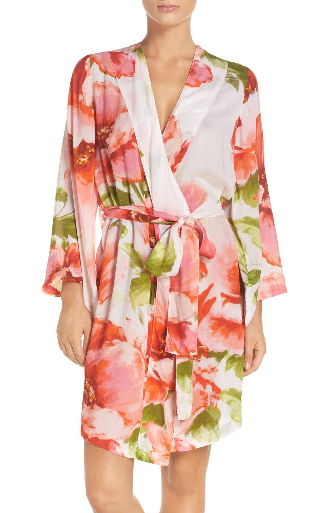 Alternate Image 1 Selected - Plum Pretty Sugar Floral Print Kimono Robe
