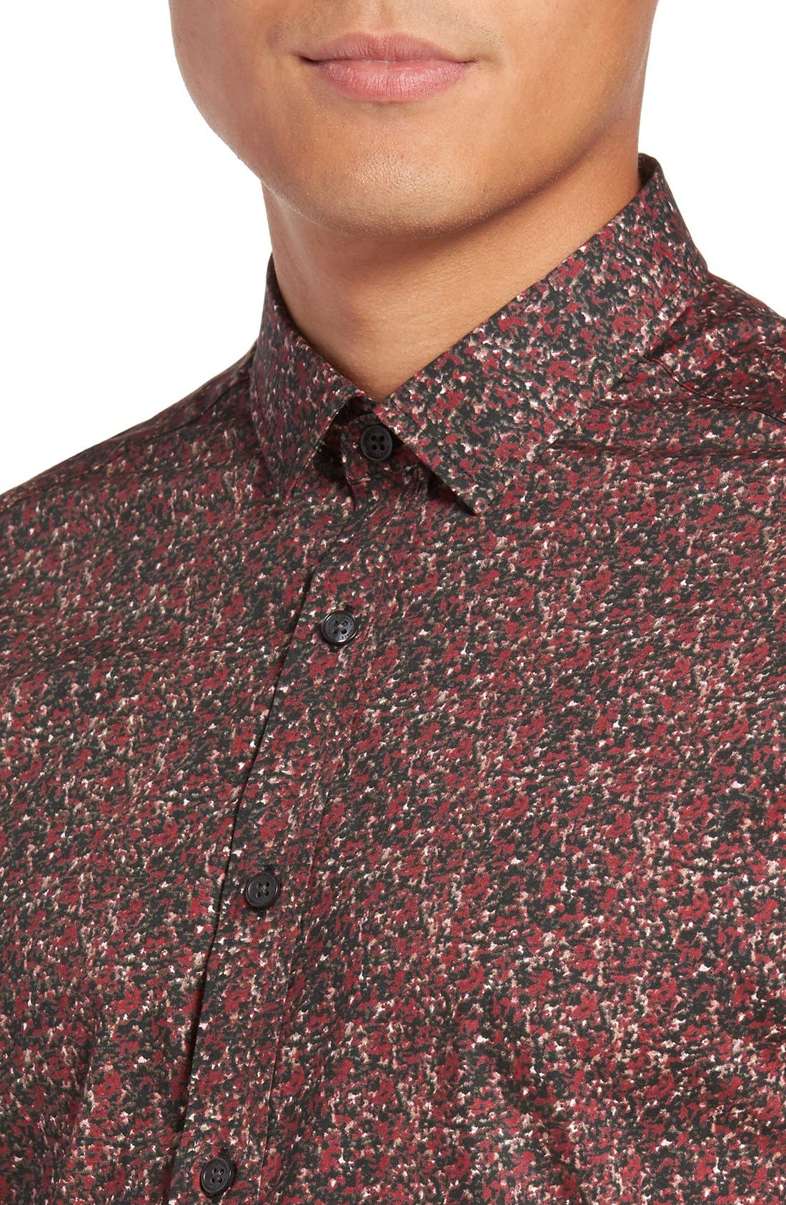 Alternate Image 4  - Vince Camuto Slim Fit Print Sport Shirt