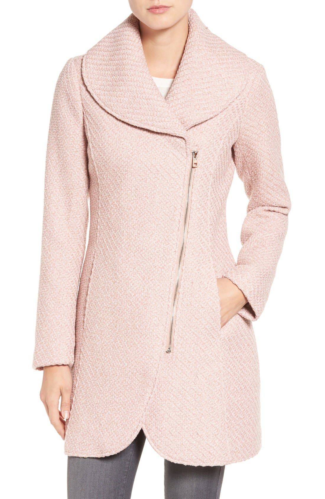 Alternate Image 1 Selected - Jessica Simpson Shawl Collar Coat