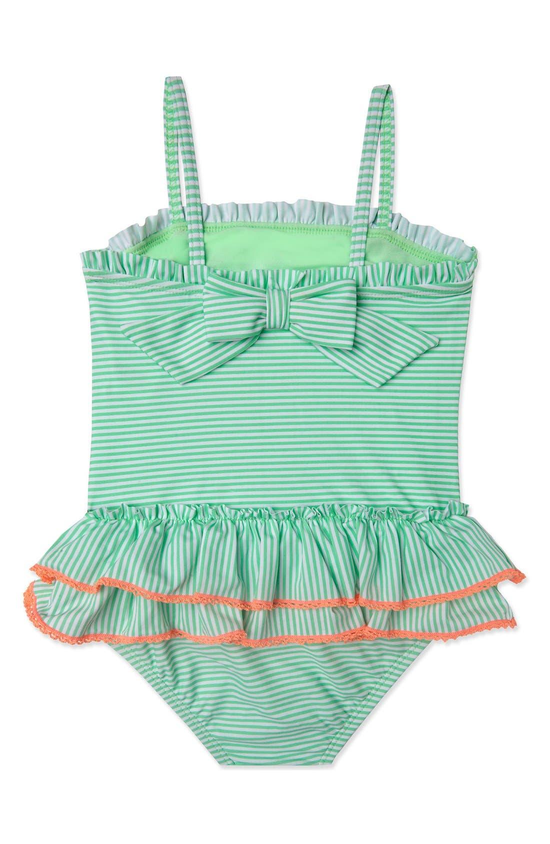 Alternate Image 2  - Hula Star 'Sailor Stripe' One-Piece Swimsuit (Toddler Girls & Little Girls)