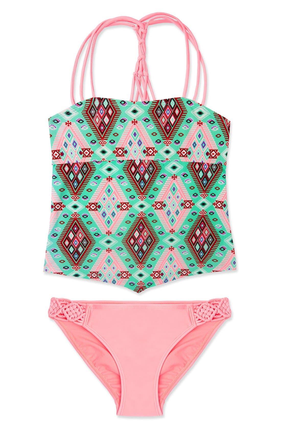 Main Image - Gossip Girl 'Aztec Harvest' Two-Piece Swimsuit (Big Girls)