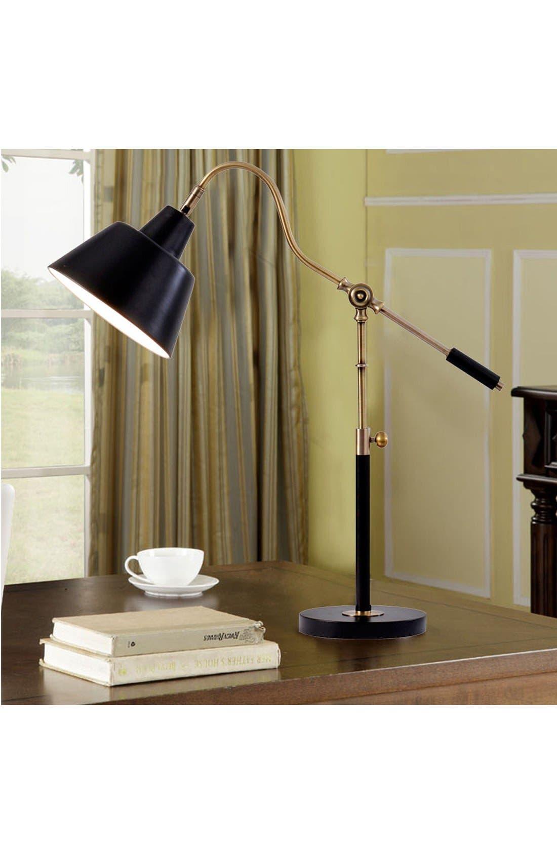 JAlexander Adjustable Task Table Lamp,                             Alternate thumbnail 2, color,                             Black