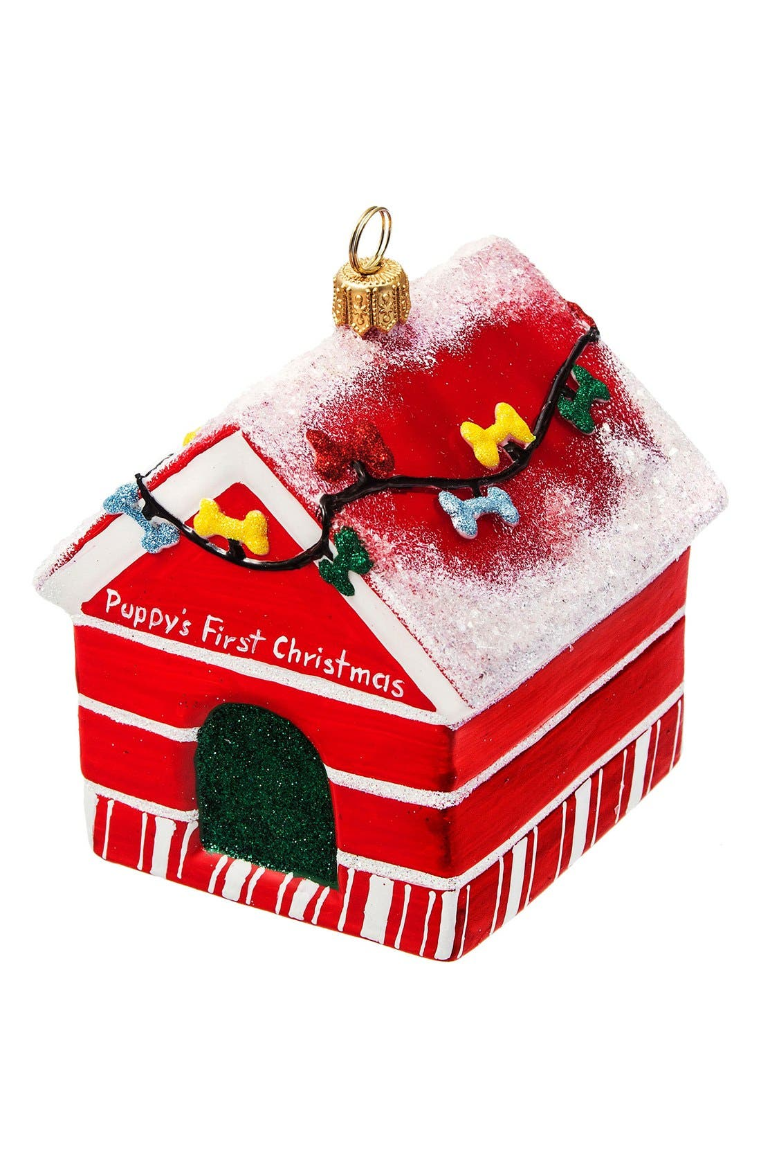 Dog House Ornament,                         Main,                         color, First Christmas