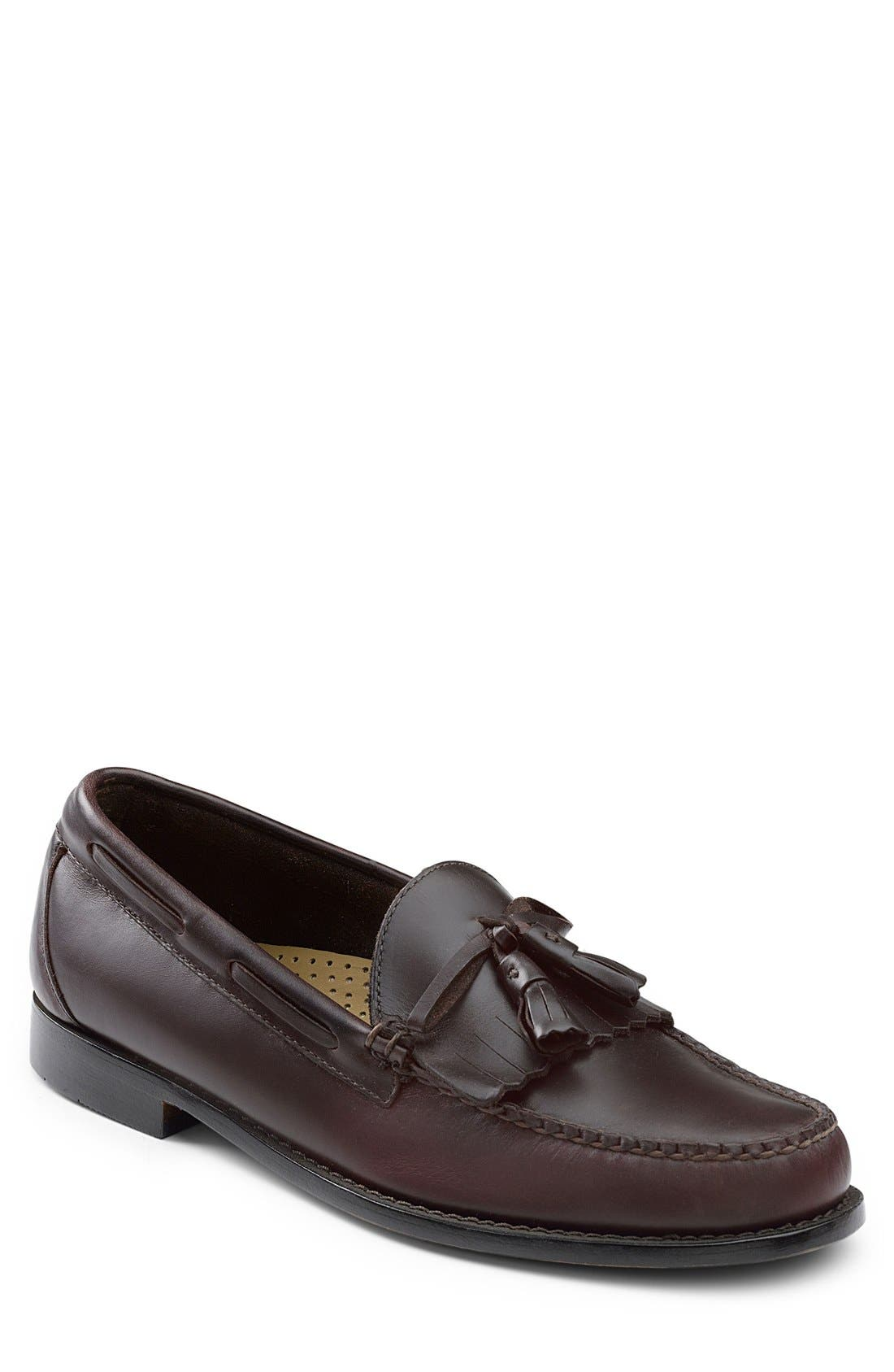 'Lawrence' Tassel Loafer,                             Main thumbnail 1, color,                             Burgundy