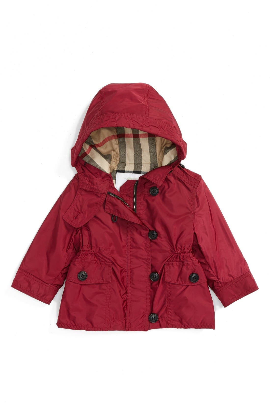 Alternate Image 1 Selected - Burberry 'Karen' Hooded Jacket (Baby Girls)