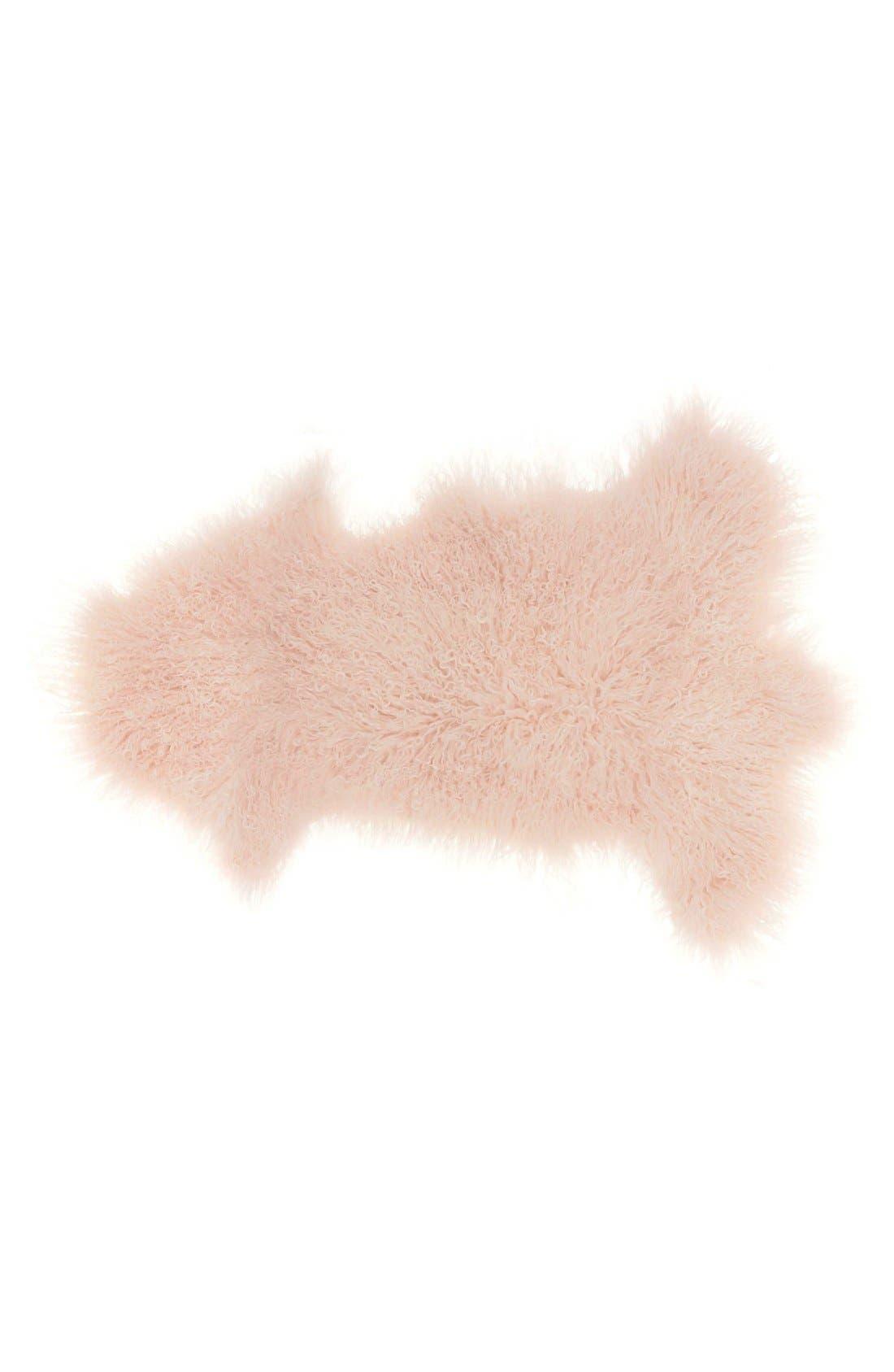 Mina Victory Genuine Sheepskin Freeform Rug