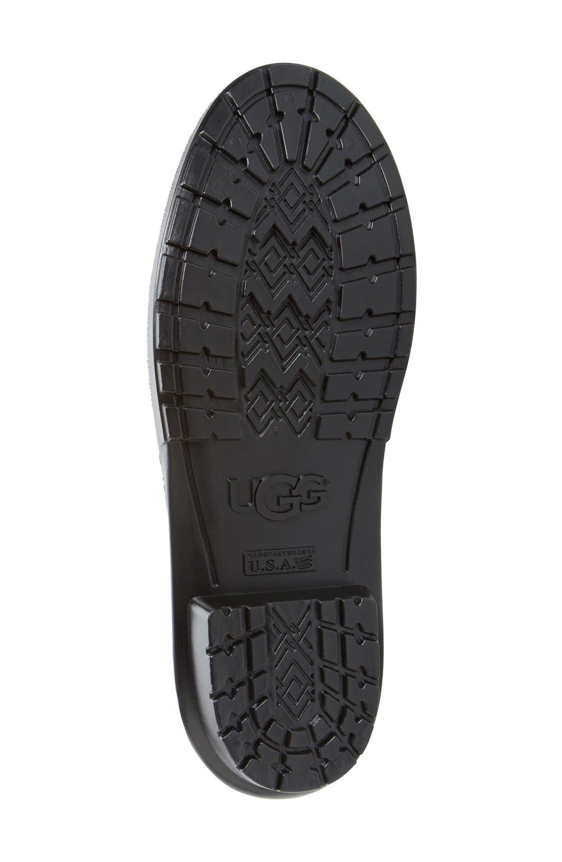Alternate Image 4  - UGG® 'Shaye' Genuine Shearling Lined Waterproof Mid-Calf Rain Boot (Women)