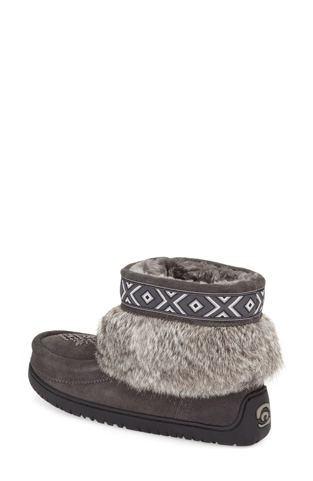 Alternate Image 2  - Manitobah Mukluks 'Keewatin' Genuine Shearling and Rabbit Fur Boot (Women)