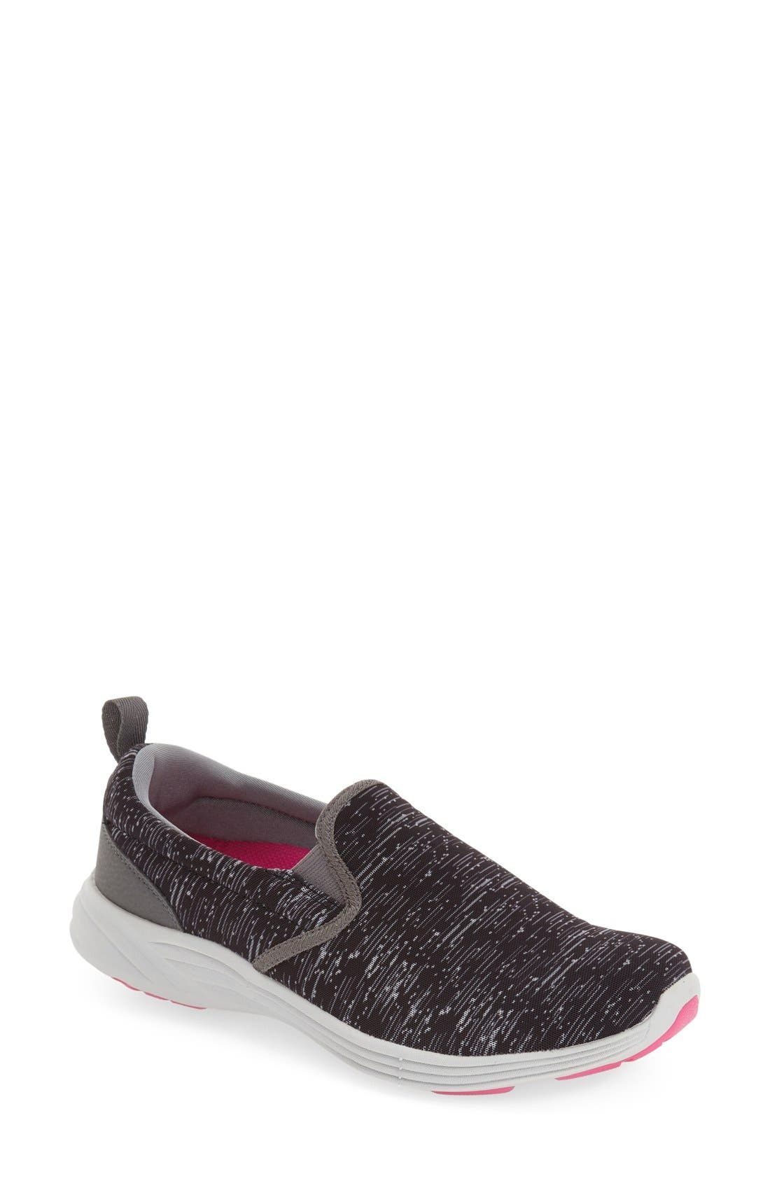 'Kea' Slip-On Sneaker,                             Main thumbnail 1, color,                             Black Fabric