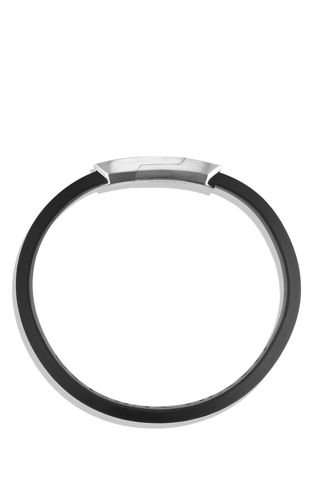 Alternate Image 2  - David Yurman 'Forged Carbon' Rubber ID Bracelet in Black