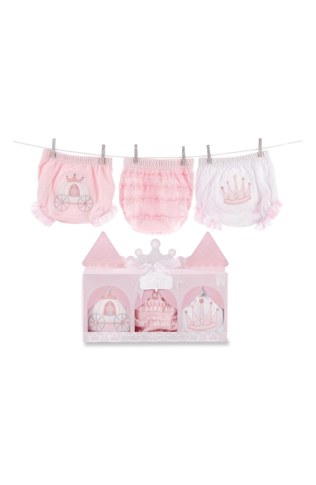 Alternate Image 5  - Baby Aspen 'Her Royal Hineys' Bloomers (3-Pack) (Baby Girls)