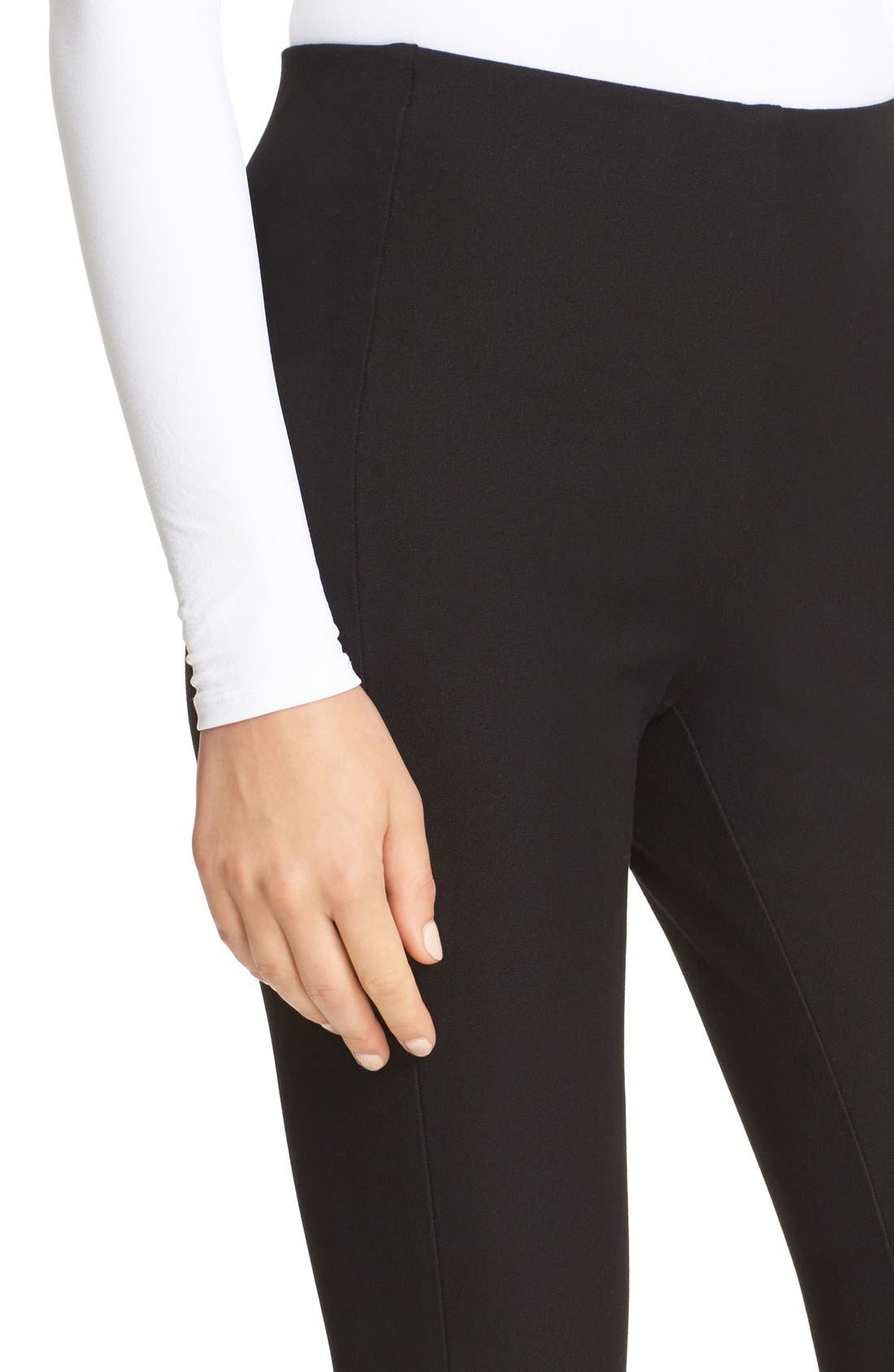 Alternate Image 4  - Theory 'Navalane Jetty' Stretch Ponte Skinny Pants