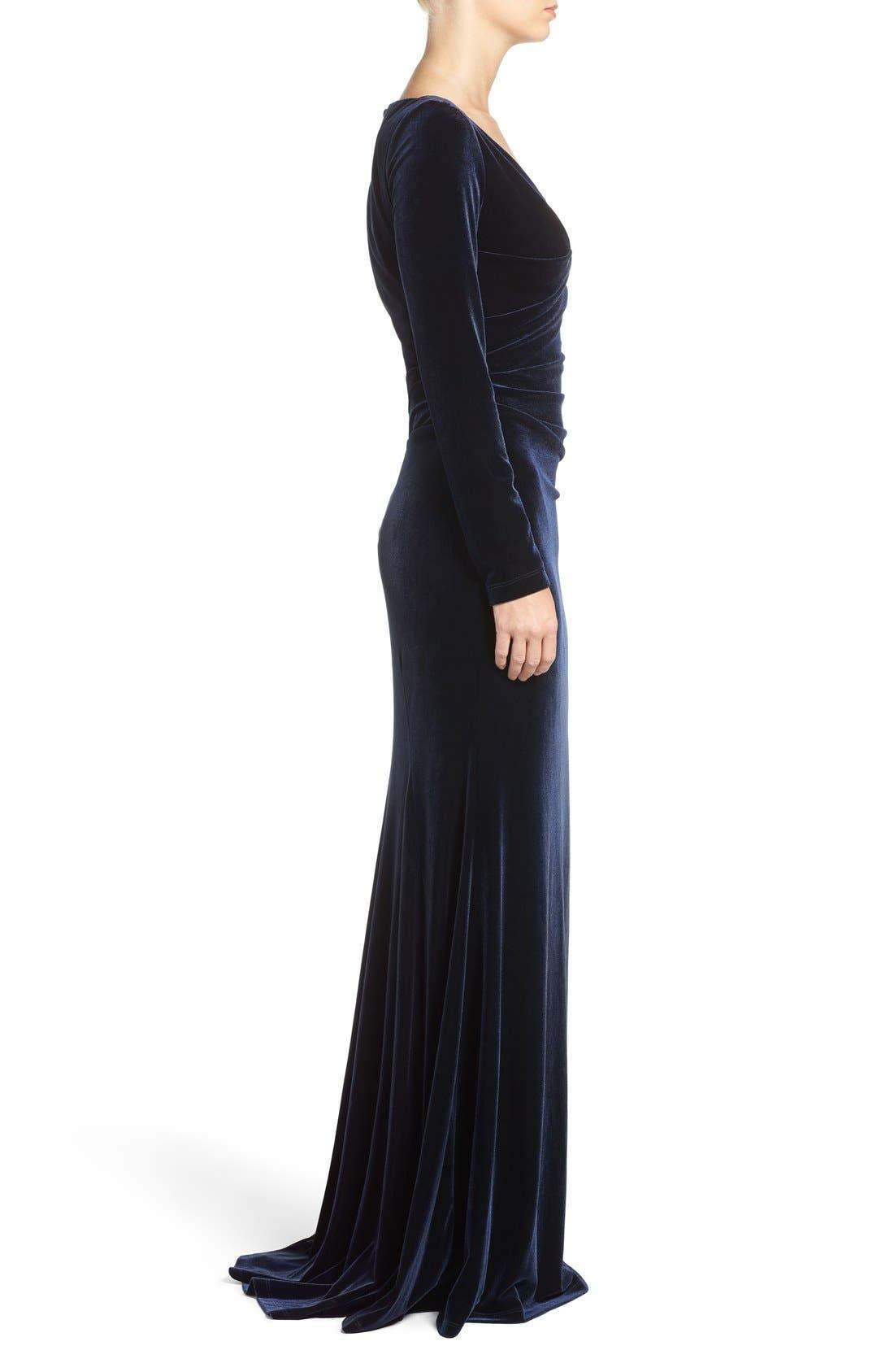 Alternate Image 3  - Vince Camuto Velvet Gown (Regular & Petite)