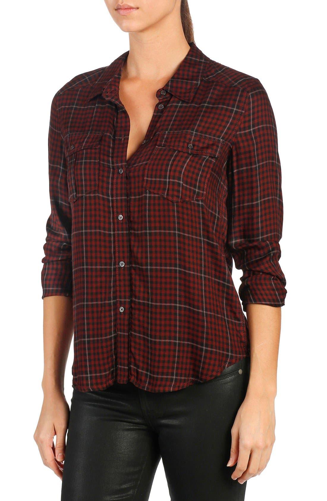 Main Image - PAIGE 'Mya' Plaid Shirt