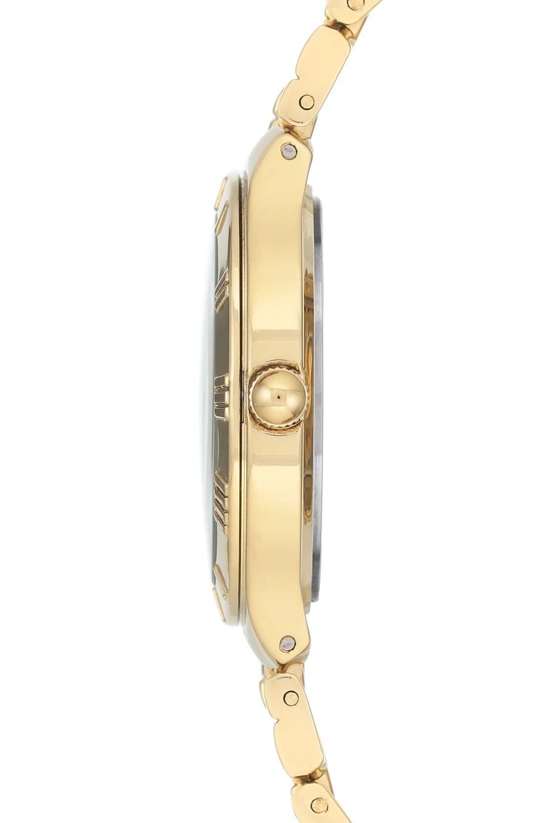 Bracelet Watch, 32mm,                             Alternate thumbnail 3, color,                             Gold/ Silver