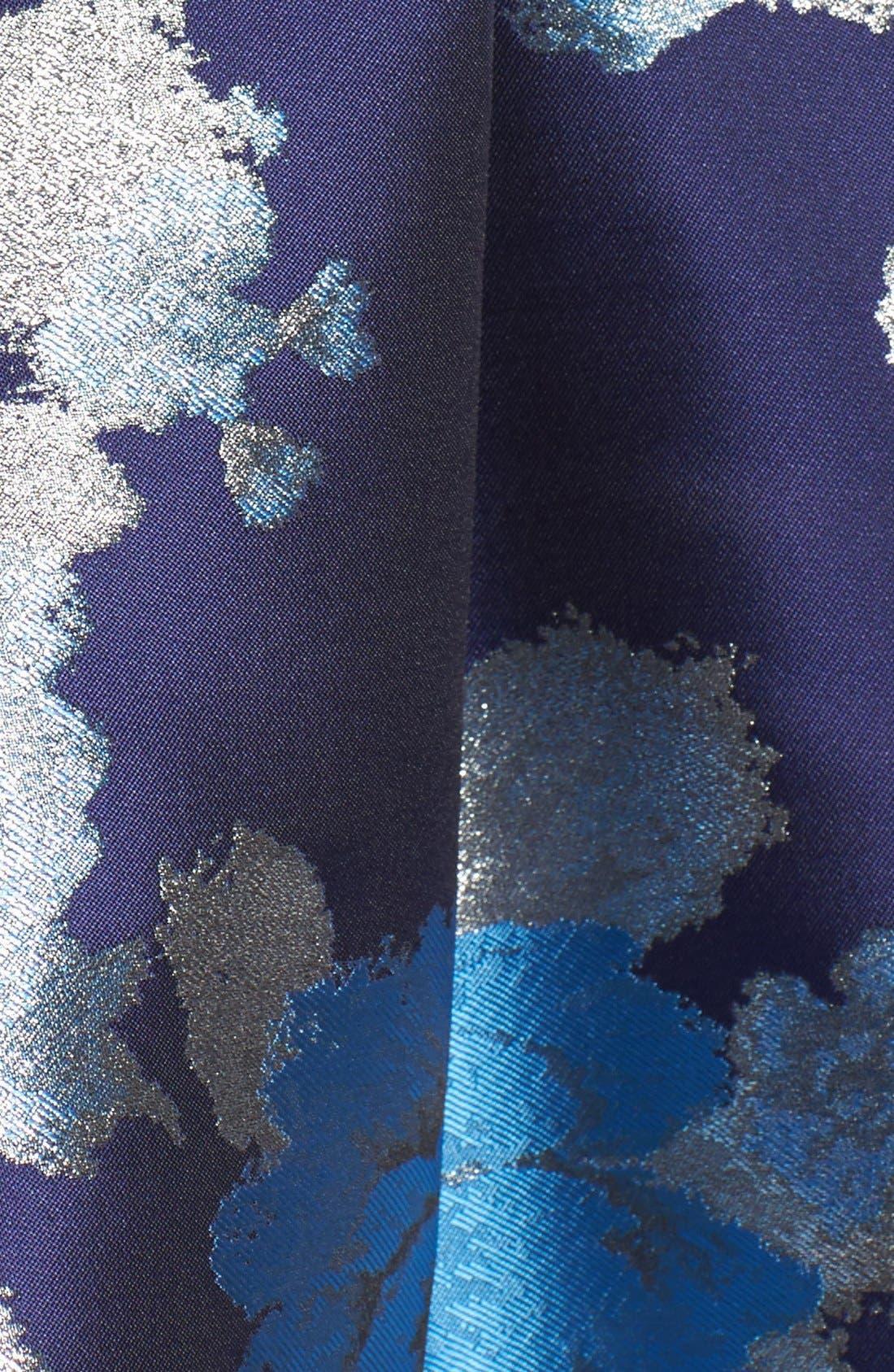 Alternate Image 6  - Eliza J Metallic Jacquard Fit & Flare Dress (Regular & Petite)