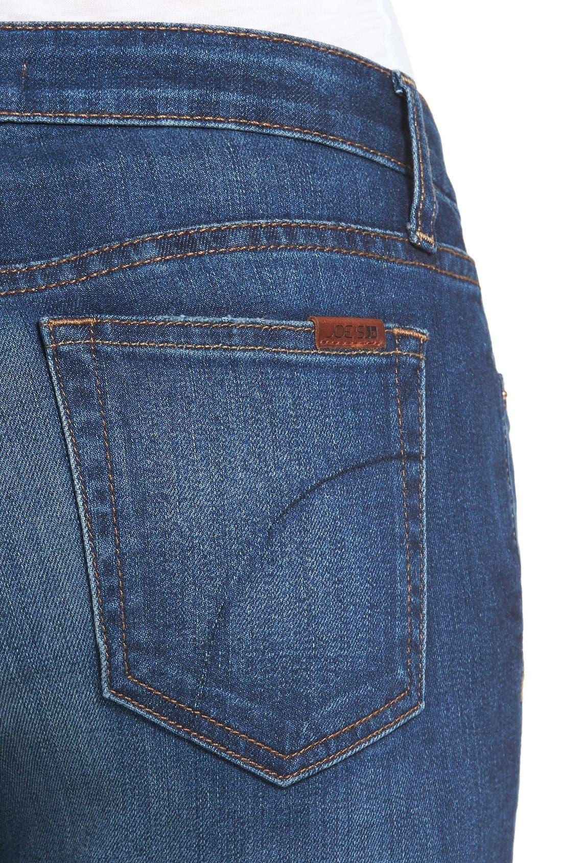 'Flawless - Honey' Curvy Bootcut Jeans,                             Alternate thumbnail 4, color,                             Lyla