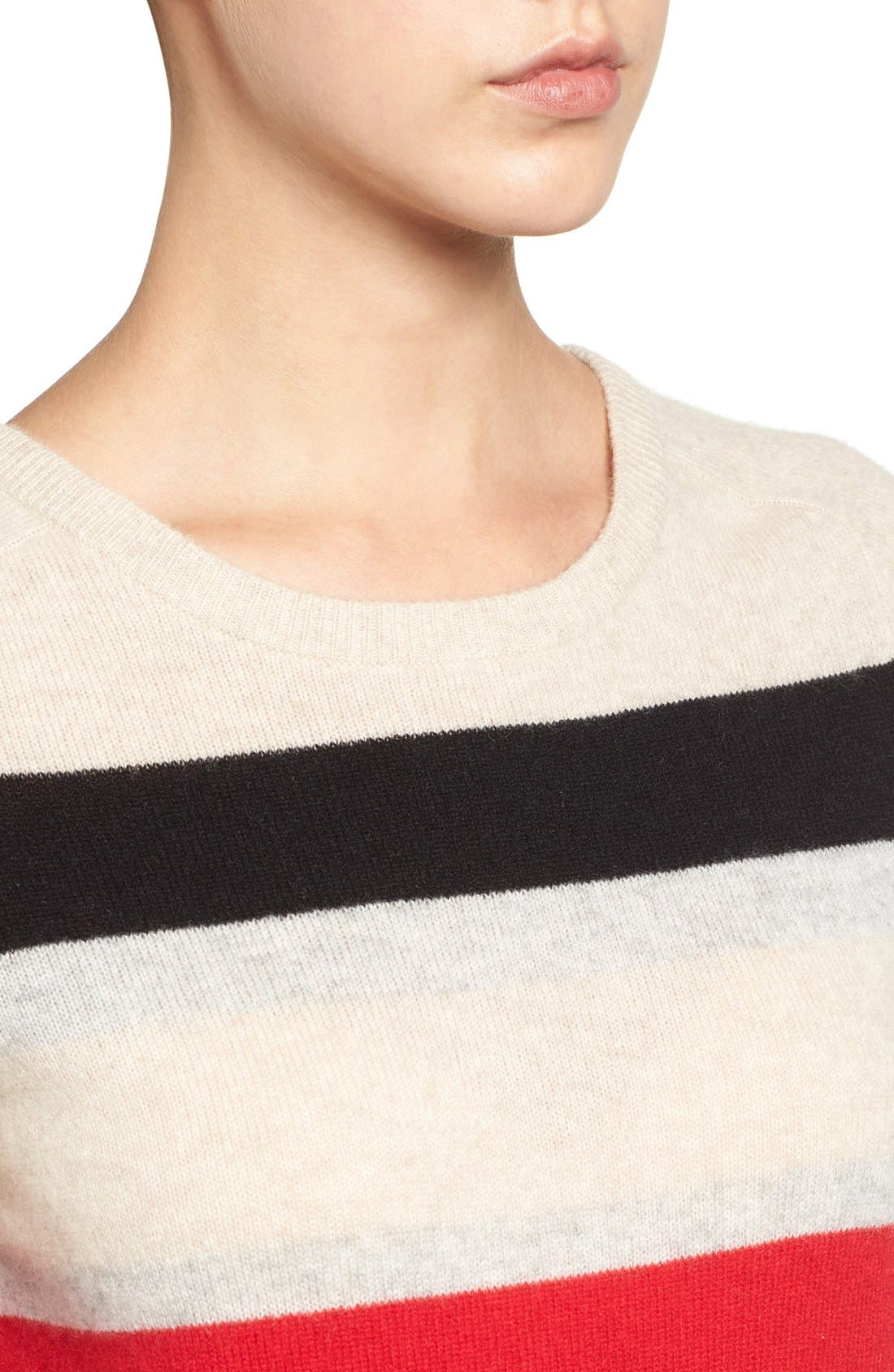 Alternate Image 5  - Halogen® Patterned Cashmere Sweater (Regular & Petite)