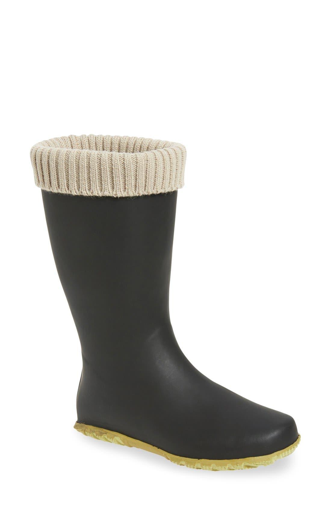 Weatherproof Rain Boot,                             Main thumbnail 1, color,                             Black