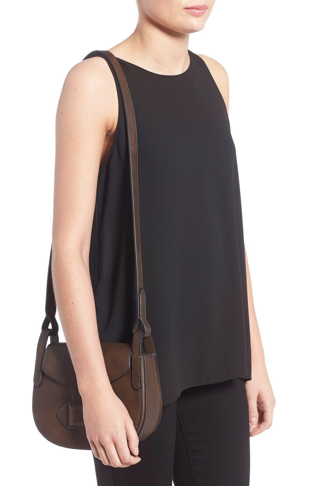 Alternate Image 2  - Michael Kors 'Daria' Leather Saddle Bag