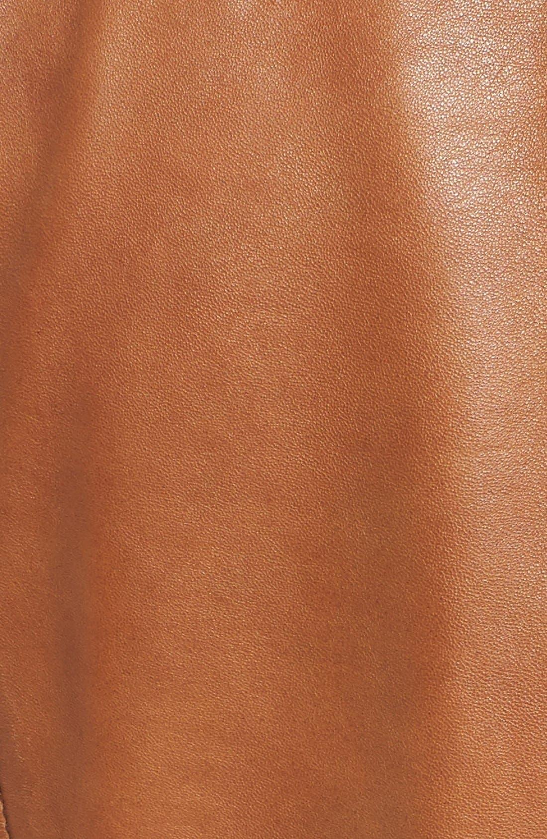 Alternate Image 6  - Bernardo Kirwin Leather Jacket (Regular & Petite)
